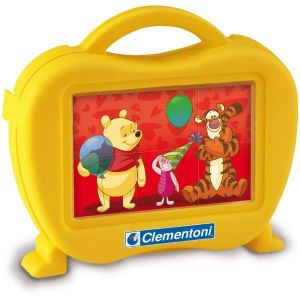 Kubus Clementoni - Medvídek Pů  - 6 obrázkových kostek v kufříku