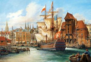 Puzzle Castorland 1000 dílků - Copy : Starý Gdaňsk - art. 102914