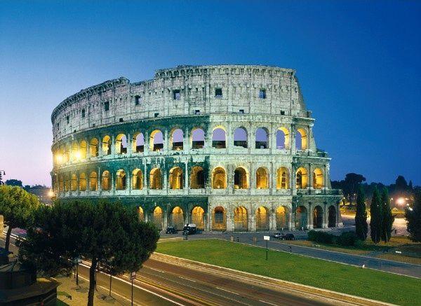 Puzzle Clementoni 1000 dílků - Koloseum - Řím - Itálie , Clementoni 30768