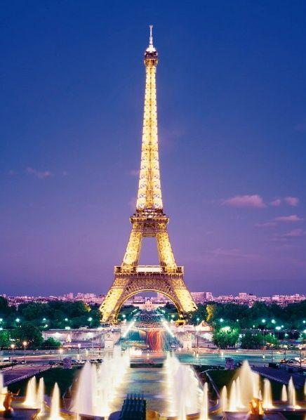Puzzle Clementoni 1000 dílků - Paříž - Eiffelova věž v noci , Clementoni 39122