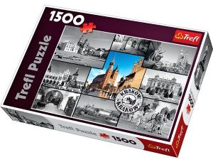 Puzzle Trefl 1500 dílků -  Krakov - koláž