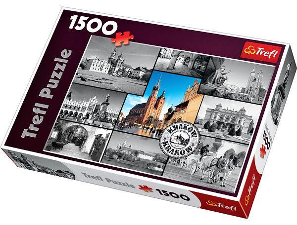 Puzzle Trefl 1500 dílků - Krakov - koláž - Trefl 26126