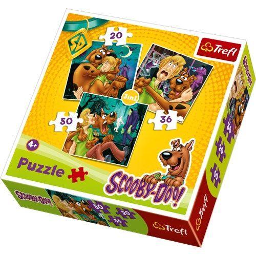 Puzzle Trefl 3v1 - 20 , 36 a 50 dílků - Scooby Doo - puzzle Trefl 34145