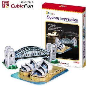 3 D Puzzle CubicFun - Opera a most v Sydney