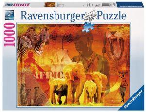 puzzle Ravensburger 1000 dílků -   Dojmy z Afriky 193660
