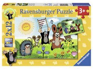 Puzzle Ravensburger 2x12 dílků Krteček - učení s Krtkem 075584