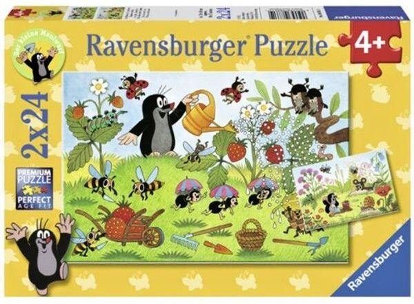 Puzzle Ravensburger 2x24 dílků Krteček na zahradě 088614