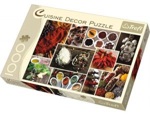 Puzzle Trefl 1000 dílků - Koření - koláž - Trefl CUISINE DECOR 10358