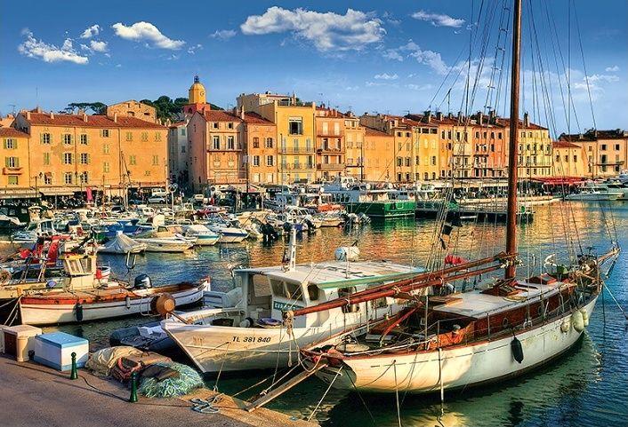Puzzle Trefl 1500 dílků - Saint Tropéz - starý přístav - Trefl 26130