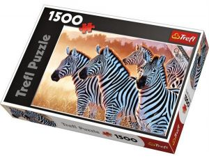 Puzzle Trefl 1500 dílků - Zebry - Trefl 26129