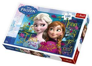100 dílků  puzzle Trefl - Frozen - Ledové království