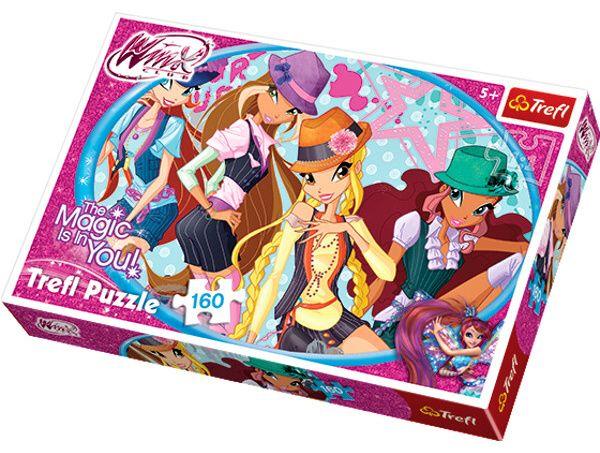 160 dílků - Winx puzzle Trefl 15296