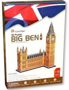3 D Puzzle CubicFun - Big Ben - velký 117 dílků