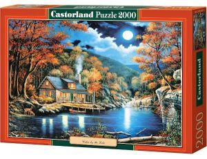Puzzle Castorland 2000 dílků  : John Zacchero - Chatka u jezera  200504