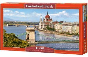 Puzzle 4000 dílků - Dunaj - Budapešť   -    Castorland 400126