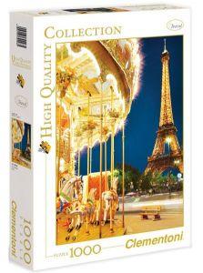 Puzzle Clementoni 1000 dílků  -  Kolotoč v Paříži u Eiffelovky