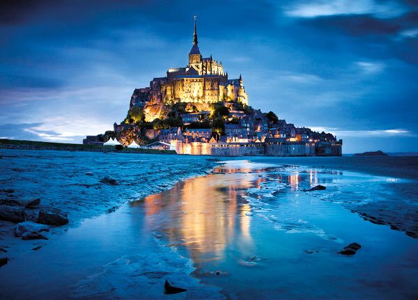 Puzzle Clementoni 1500 dílků : Le Mont Saint Michel - Clementoni 31994