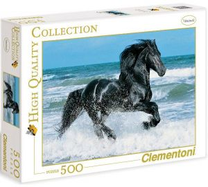 Puzzle Clementoni 500 dílků  - Černý kůň