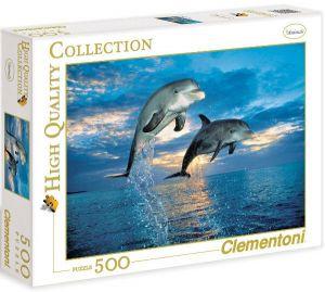 Puzzle Clementoni 500 dílků  - Delfíni