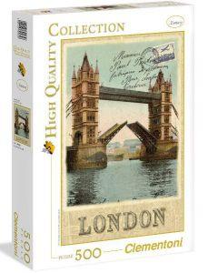 Puzzle Clementoni 500 dílků  - Londýn - pohlednice - Tower Bridge