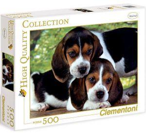 Puzzle Clementoni 500 dílků  - Pejsci - Blízko u sebe