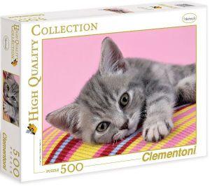 Puzzle Clementoni 500 dílků  - Šedé koťátko
