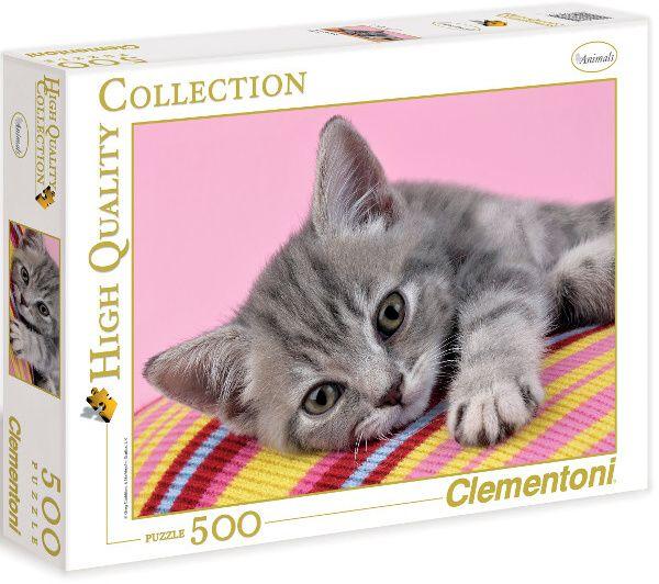Puzzle Clementoni 500 dílků - Šedé koťátko - 30362