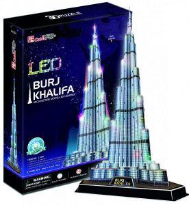 3 D Puzzle CubicFun - Burj Khalifa  136  d. LED  - svítící