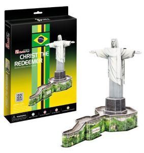 3 D Puzzle CubicFun - Socha Krista Spasitele - Brazílie