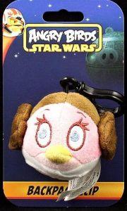 Angry Birds - Plyšový přívesek s karabinkou - Star Wars - princezna Leia
