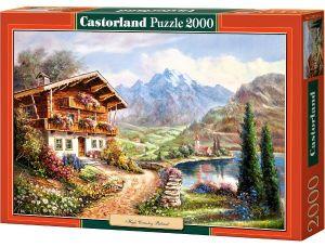 Castorland - Puzzle 2000 dílků  - Chata pod Alpami