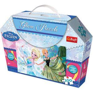 Puzzle Trefl  100  dílků -  Frozen -  puzzle  se třpytkami