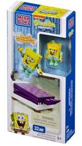 Mega bloks Squarepants - Spongebob - skákací postel 32 dílků