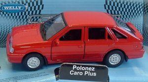 Polonez Caro Plus  - red -  1:34  Welly
