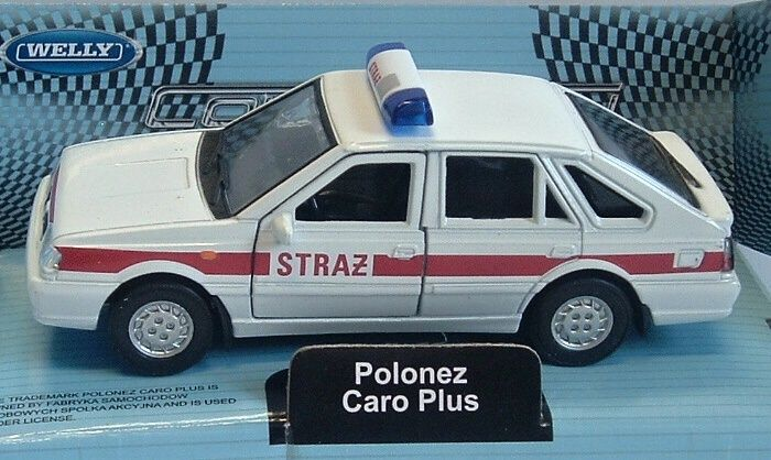 Polonez Caro Plus - Straź - white - 1:34 Welly