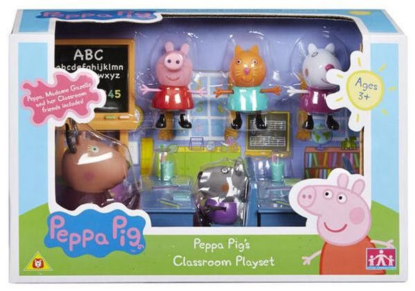 Prasátko PEPPA - hrací set - ve škole