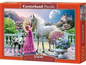 Castorland  - Puzzle 1500 dílků - princezna a jednorožec