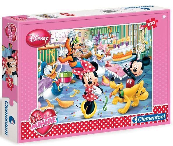 Puzzle Clementoni 100 dílků - Minnie - 07210