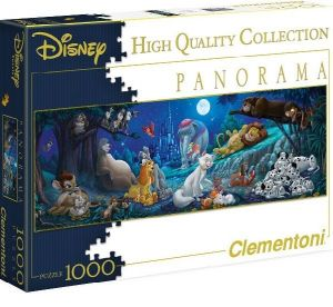 Puzzle Clementoni 1000 dílků - panorama   - Disney  Zvířátka