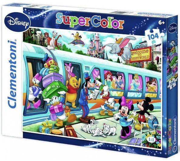 Puzzle Clementoni 104 dílků - Disney vlak 27884