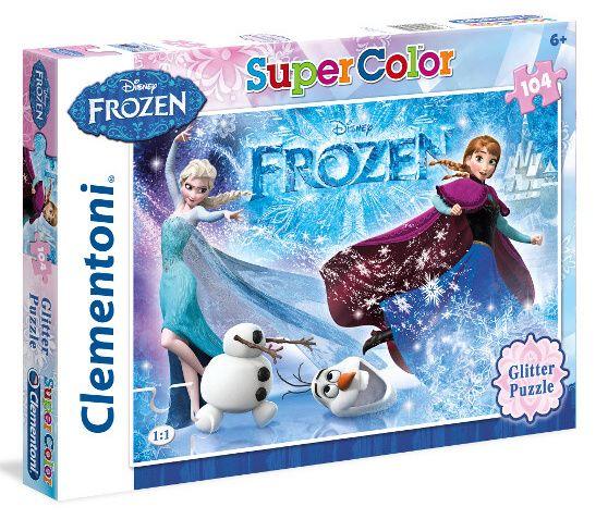 Puzzle Clementoni - 104 dílků glitter - Frozen - Ledové království 29712