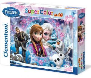 Puzzle Clementoni  MAXI  - 104 dílků  -  Frozen - Ledové království 23662