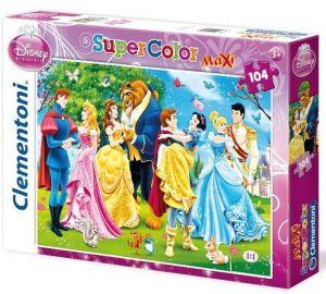 Puzzle Clementoni  MAXI  - 104 dílků  -  Princezny