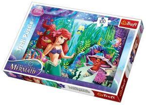 100 dílků  puzzle Trefl - Arielka - Mermaid  - 16250