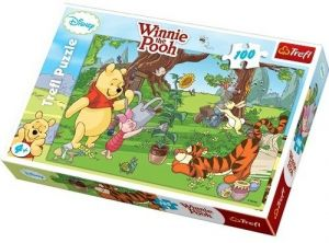 100 dílků  puzzle Trefl - Medvídek Pů - 16185