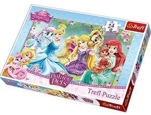 24 MAXI dílků  - Princezny - odpočinek v zahradě - puzzle Trefl