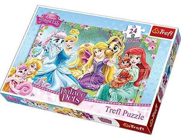 Puzzle Trefl 24 MAXI dílků - Princezny - odpočinek v zahradě - Trefl 14223
