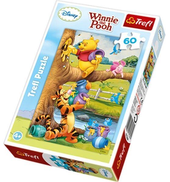 Puzzle Trefl 60 dílků - Medvídek Pú - puzzle Trefl 17264