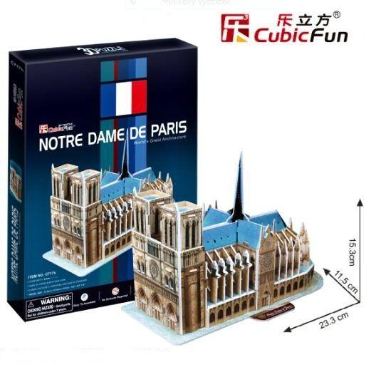 3 D Puzzle CubicFun - katerdrála Notre Dame 40 d Cubic Fun