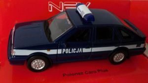 Polonez Caro Plus  - policja -  blue -  1:34  Welly